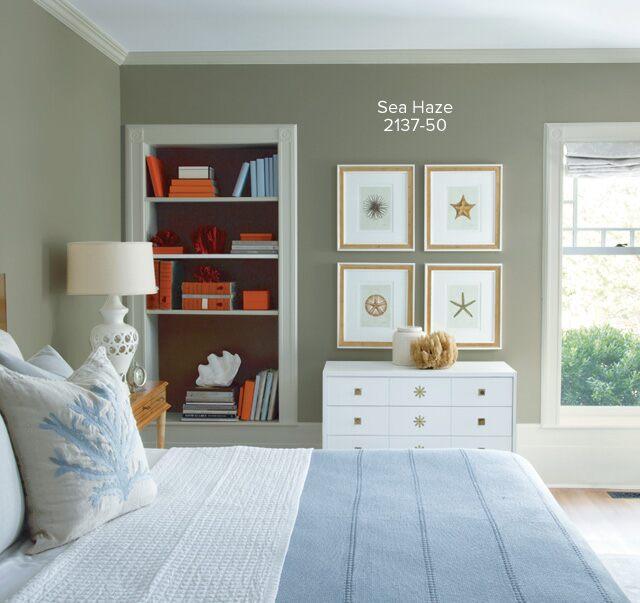 Bedroom Paint Colors 2017 Bedroom Paint Colors: Sea Haze Benjamin Moore Colour Schemes
