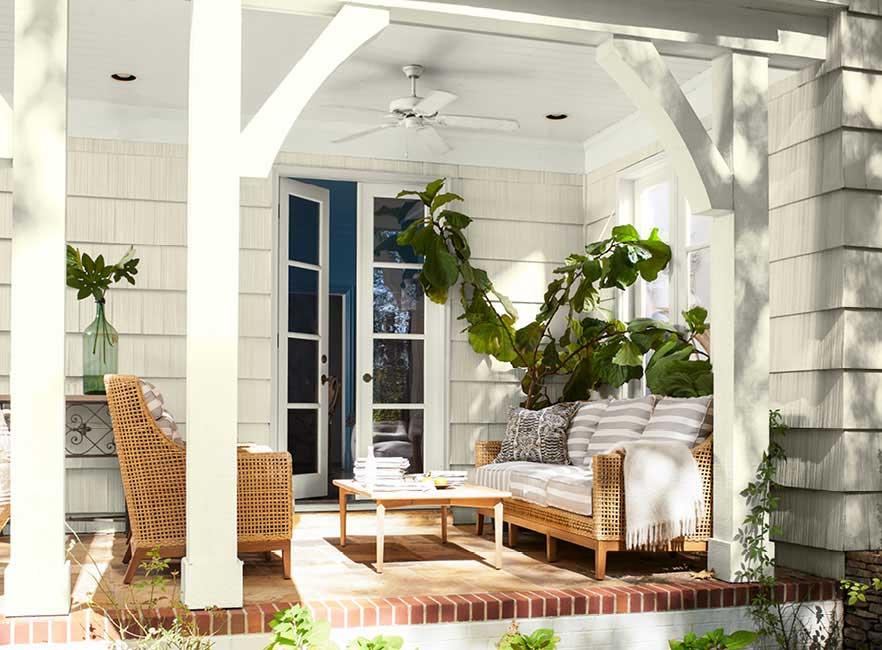 Porch Patio And Pool Deck Paint Color Ideas Benjamin Moore