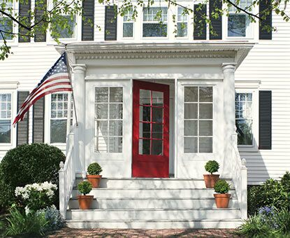 Traditional, All-American Front Entry with Vinyl Siding