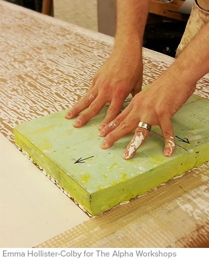 How The Alpha Workshops hand-painted wallpaper is made
