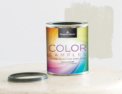 Paint color samples are available in any Benjamin Moore color.