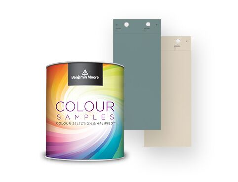 Paint colour samples are available in any Benjamin Moore colour.