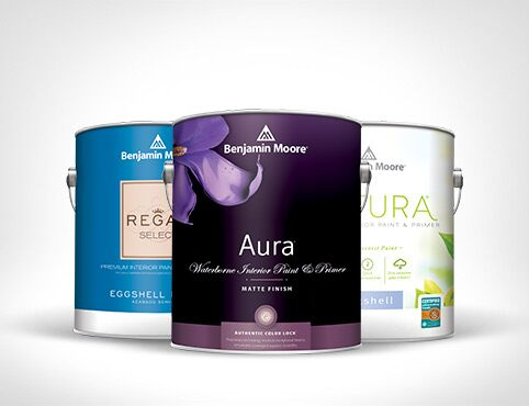 Regal Select®, Aura Interior®, and Natura Paint®