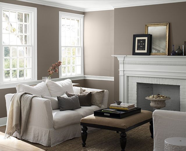 A living room painted in warm Stardust 2109-40 to show the impact of warm paint colours.