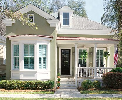 Green home exterior painted with Coronado Cryli Cote®