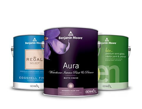 Aura® Interior Paint, Regal® Select Interior Paint, and ben® Interior Paint.