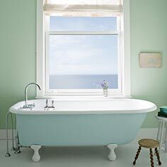 Serene bathroom with clawfoot tub