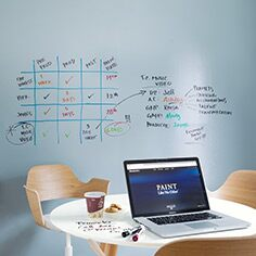 Home office with Notable Dry Erase ink walls
