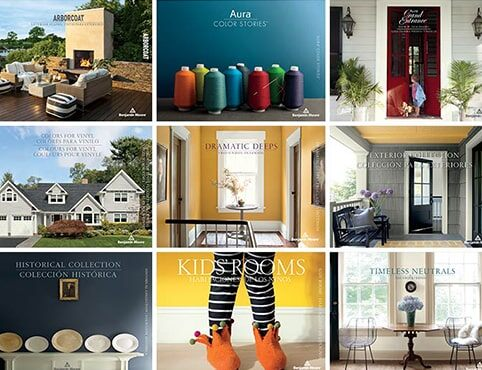 Collection of Benjamin Moore® color brochures..