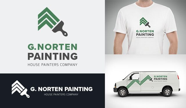 Example logo for G. Norten Painting.