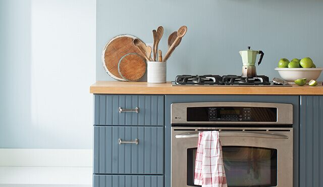 Beautifully painted kitchen cabinets
