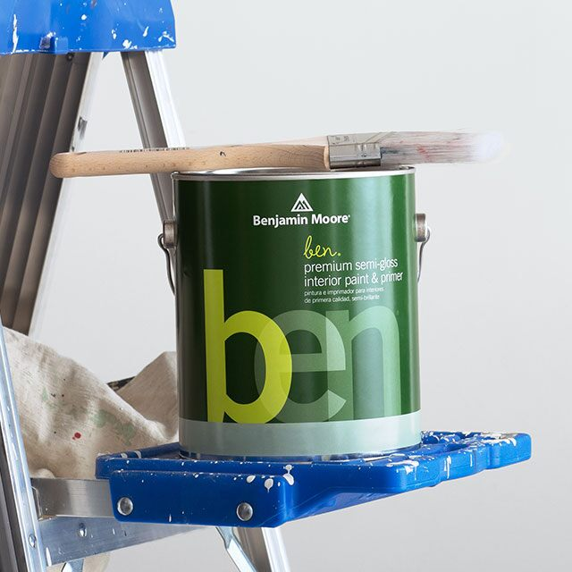 A can of Benjamin Moore® ben® paint
