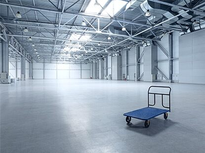 A huge warehouse floor withstands any level of abuse–and still looks great–with epoxy floor coatings.