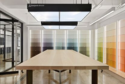 Benjamin Moore Flagship NYC Showrooms Colour Vault for Architects & Designers